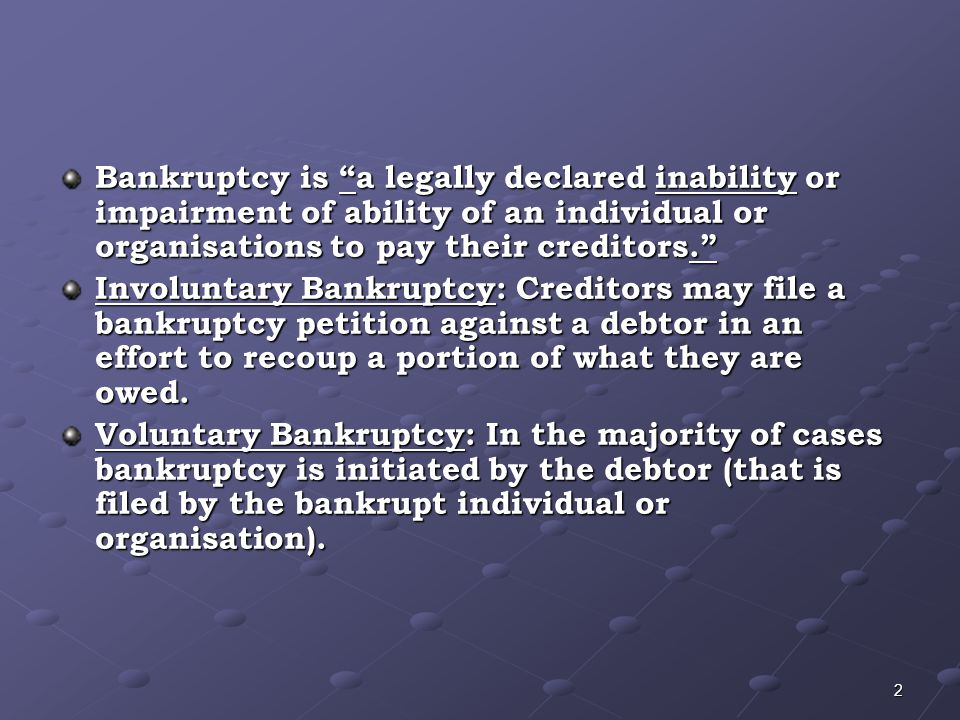 How long does Bankruptcy last.