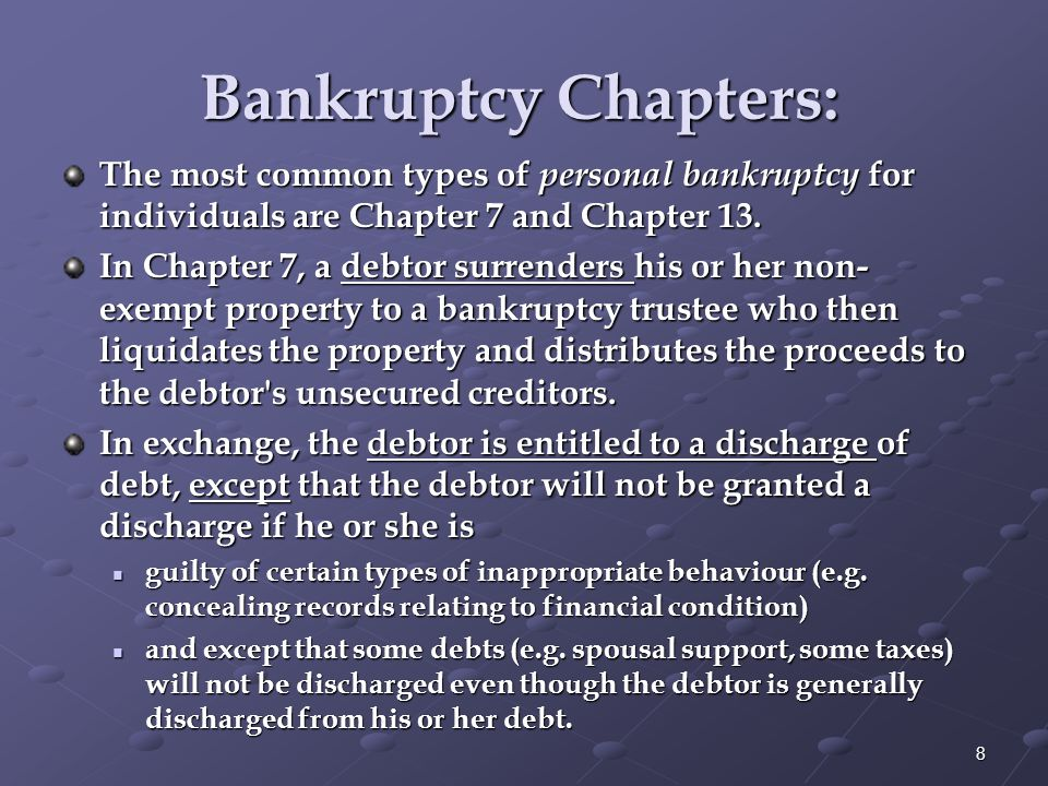 Disadvantages of Bankruptcy: Bankrupt can have disastrous long-term implications 1.