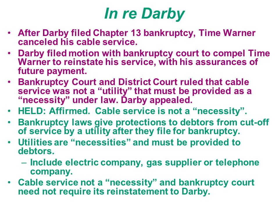 Bankruptcy - Chapter 7 Priority of classes of creditors –secured creditors –costs of preserving and administering debtor's estate –unpaid wage claims
