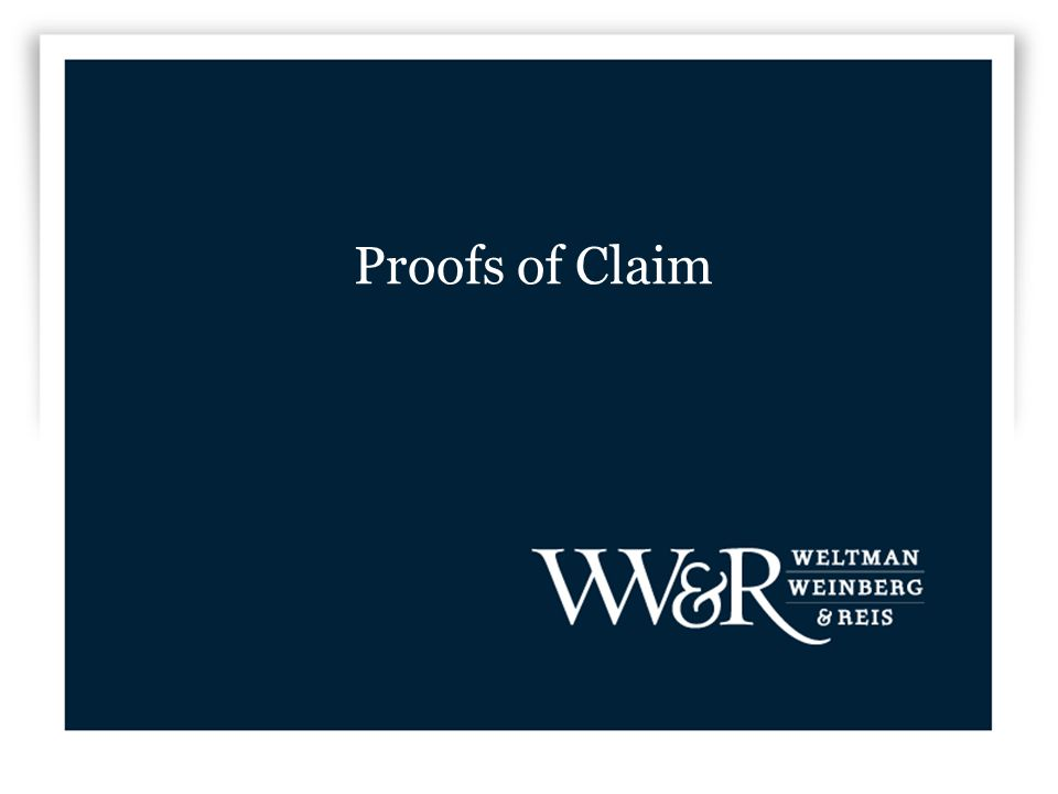 Proofs of Claim