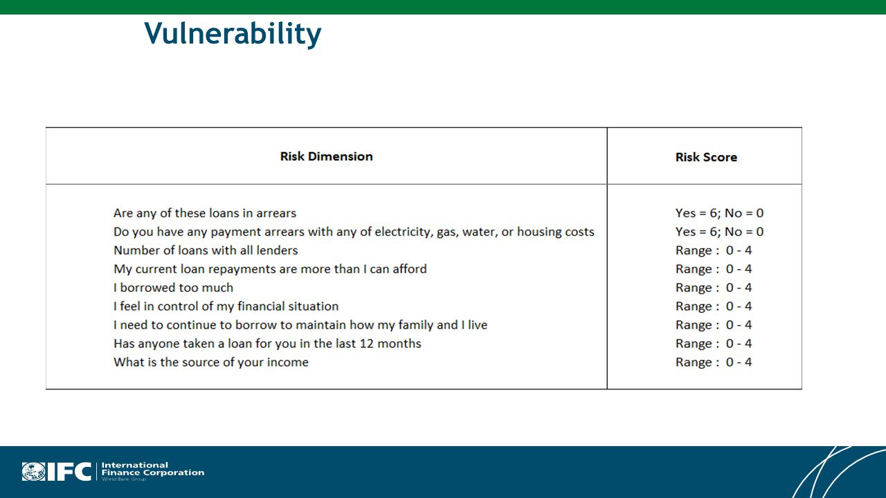 Risk Vulnerability Questions Used