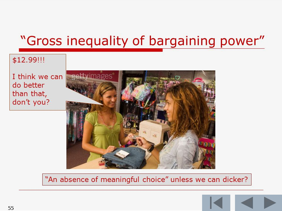 55 Gross inequality of bargaining power 55 $12.99!!.