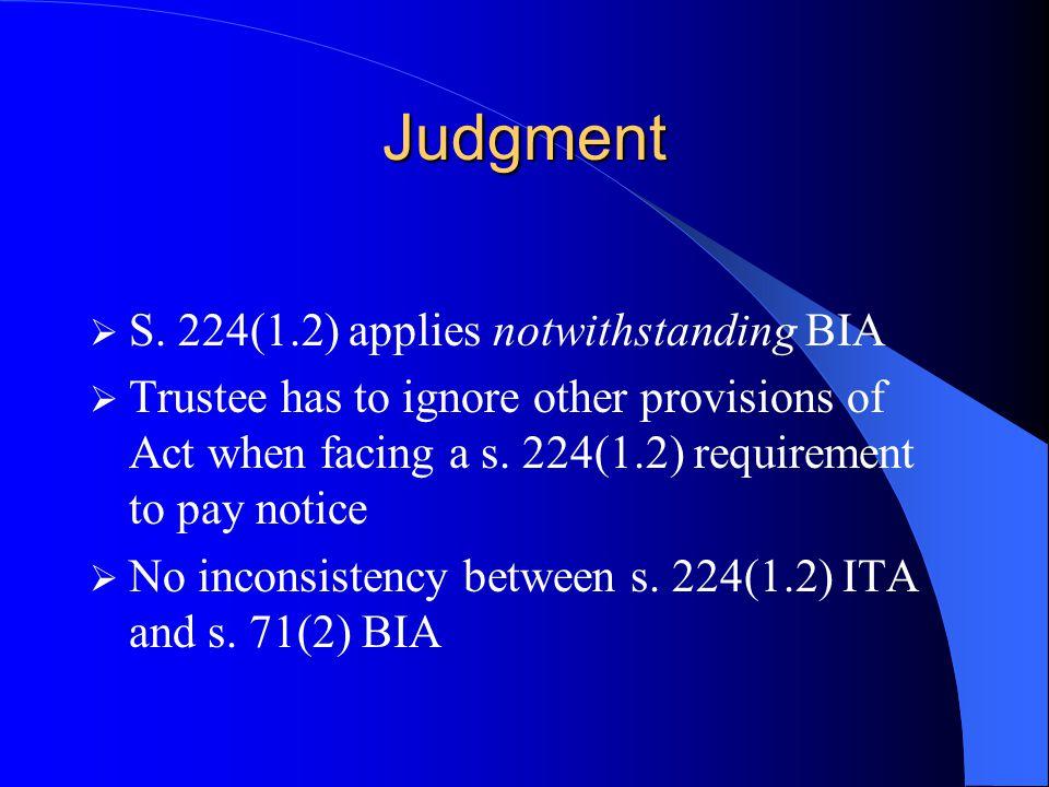 Judgment  S.