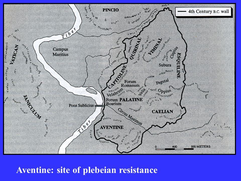 Aventine: site of plebeian resistance
