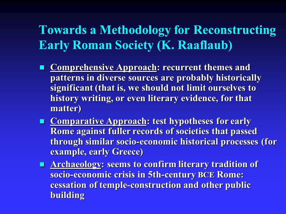 Towards a Methodology for Reconstructing Early Roman Society (K.