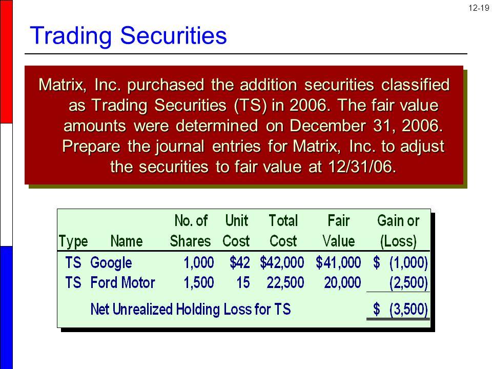 12-19 Trading Securities Matrix, Inc.