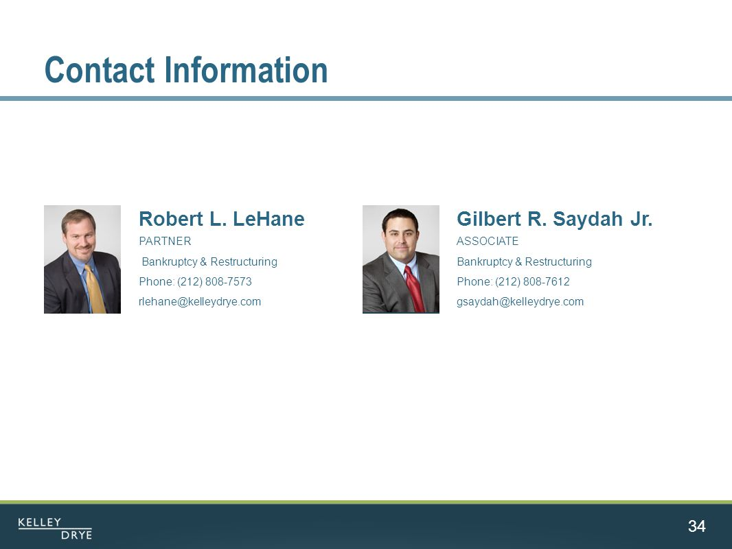 Contact Information 34 Robert L.
