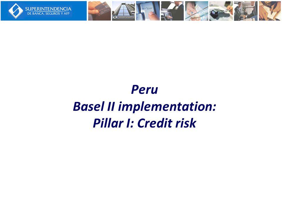 Peru Basel II implementation: Pillar I: Credit risk