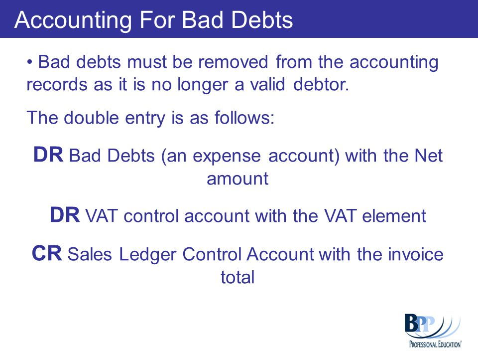 Sales Ledger Control account Reconciliation The SLCA figure will appear in the trial balance as the Debtors figure so it is important that this is accurate.