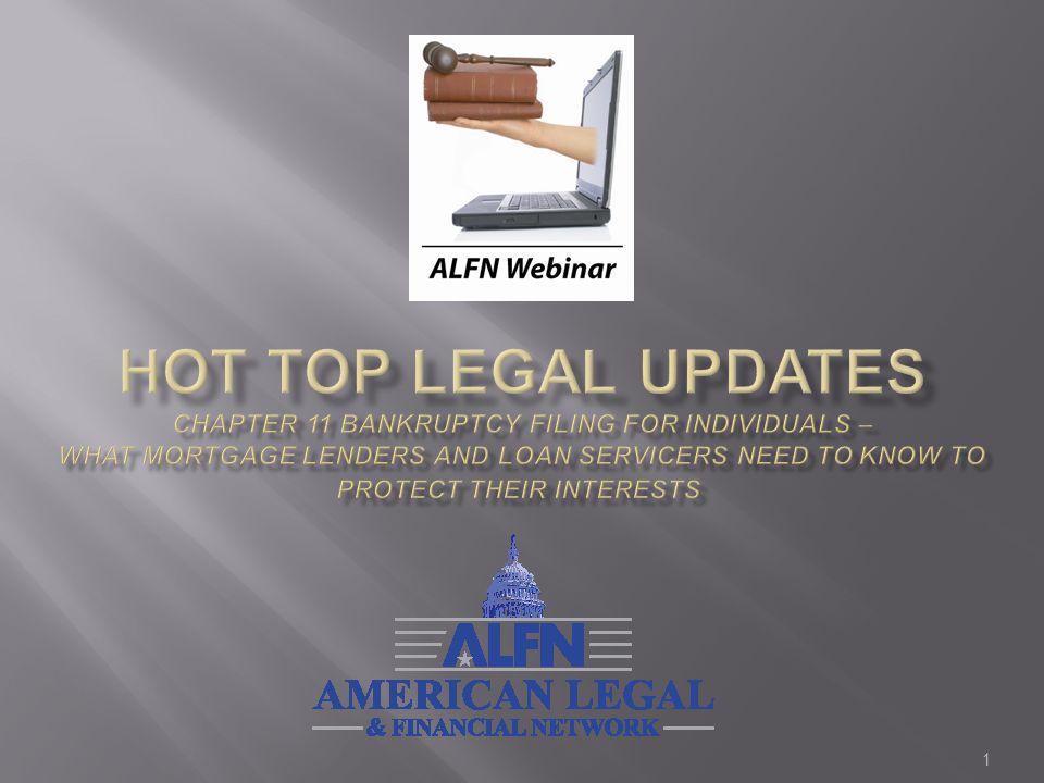 2 William M.LeRoy - Moderator President & CEO American Legal & Financial Network ALFN Lee S.
