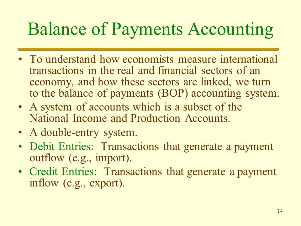 15 Balance of Payments The current account is the broadest measure of a nation's real sector trade.