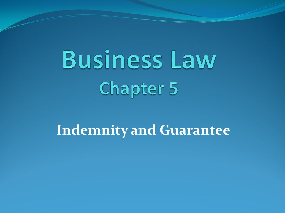 Contract of Indemnity Definition and nature The term indemnity means to compensate or make good the loss.