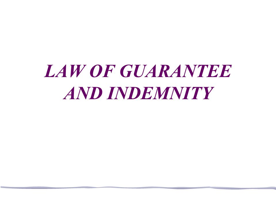 Guarantee When a surety is not discharged 1.