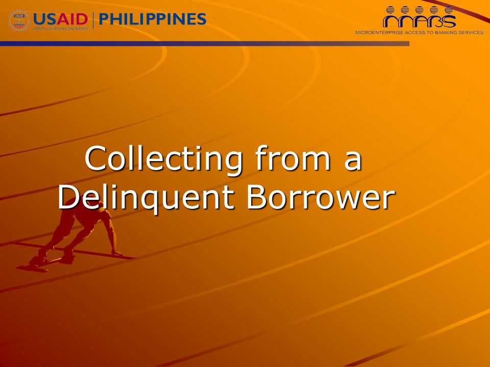 Collecting from a Delinquent Borrower Collecting from a Delinquent Borrower
