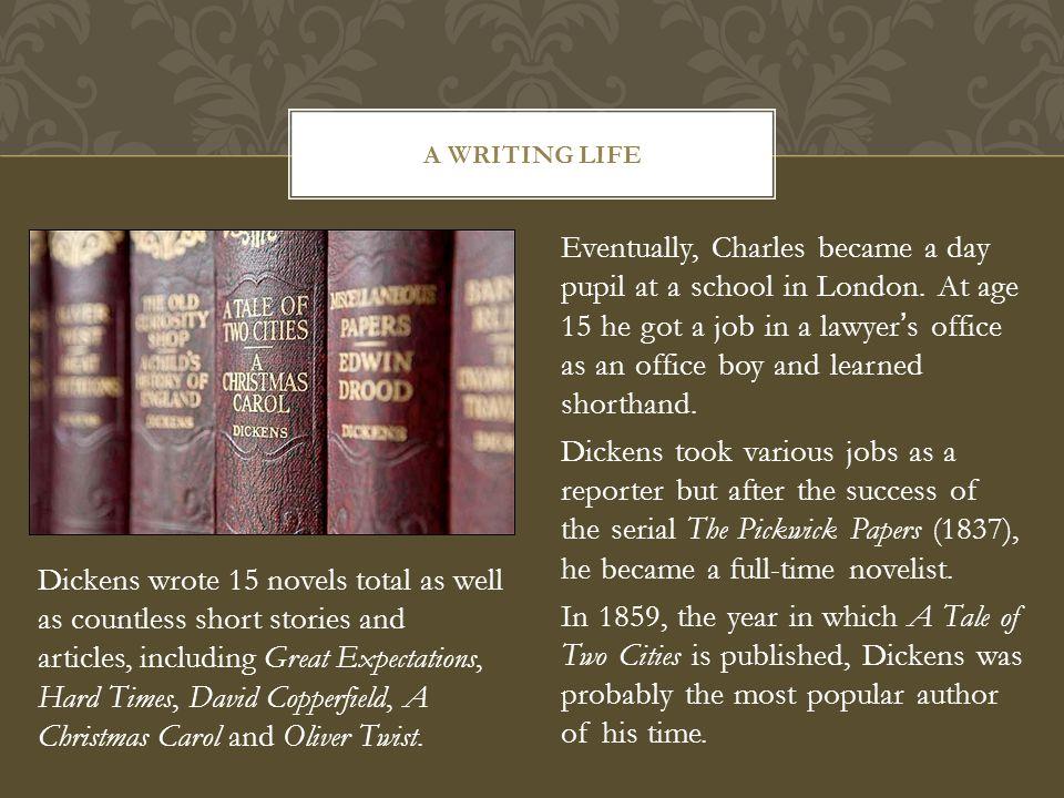 Eventually, Charles became a day pupil at a school in London.