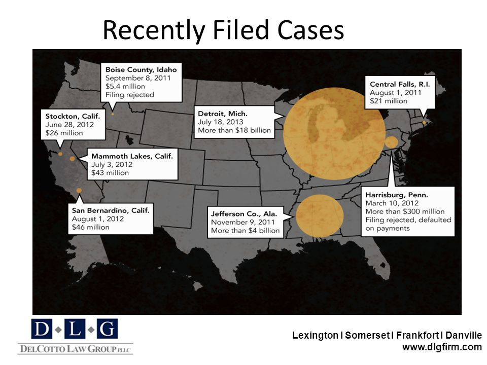 Lexington I Somerset I Frankfort I Danville www.dlgfirm.com Recently Filed Cases