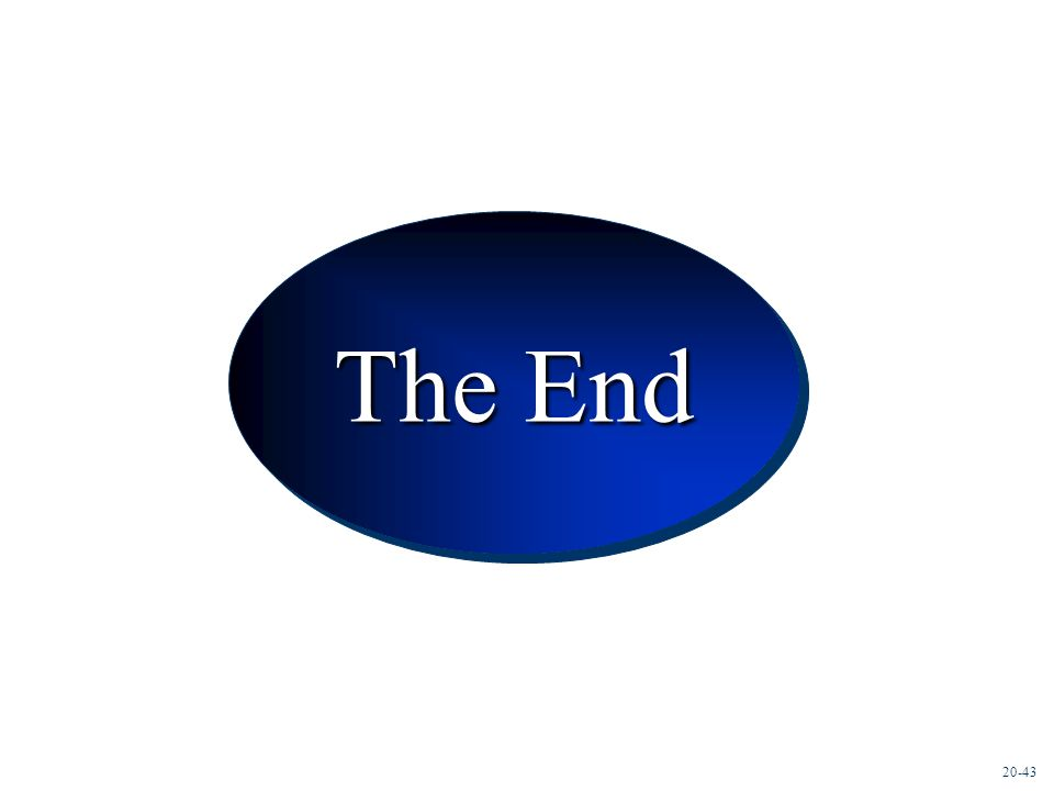 Conclusion The End 20-43