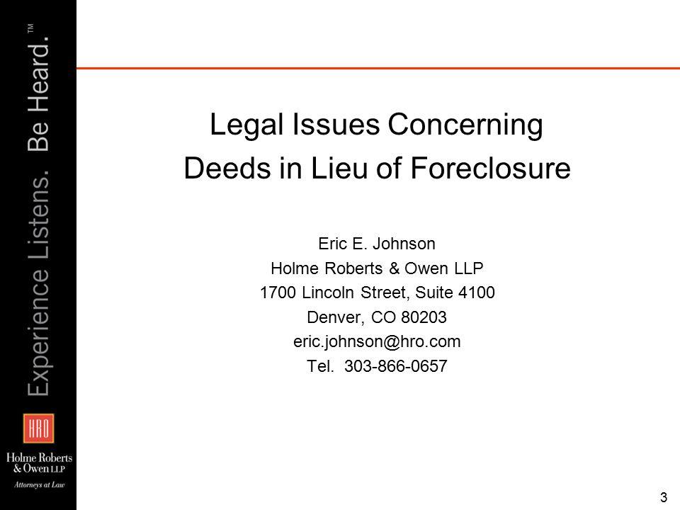 34 Case Study Bank Foreclosure on a Partially Completed Development Project Rick Wells REGen, LLC 1125 17 th Street, Suite 2500 Denver, CO 80202 rwells@regenllc.com Tel.