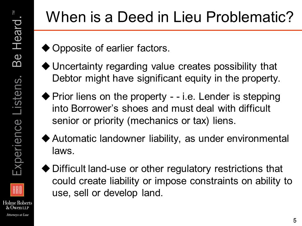 56 Outstanding Issues  Developer Position  Developer believes lender at fault for not obtaining lien releases from subcontractors.