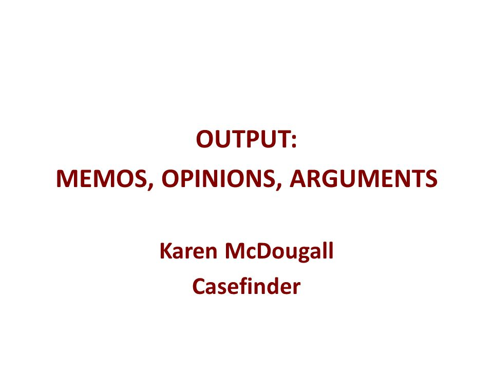 The discussion… Case description : Outline the facts of the case (briefly), the decision made and the basis for the decision What is the relevance/importance of the case.