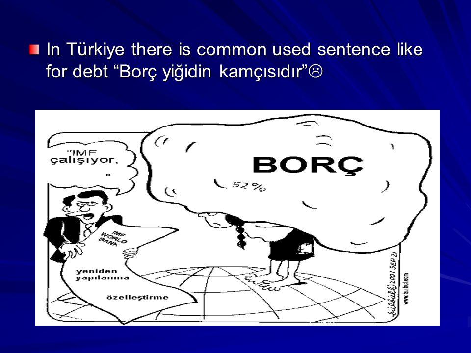 In Türkiye there is common used sentence like for debt Borç yiğidin kamçısıdır 