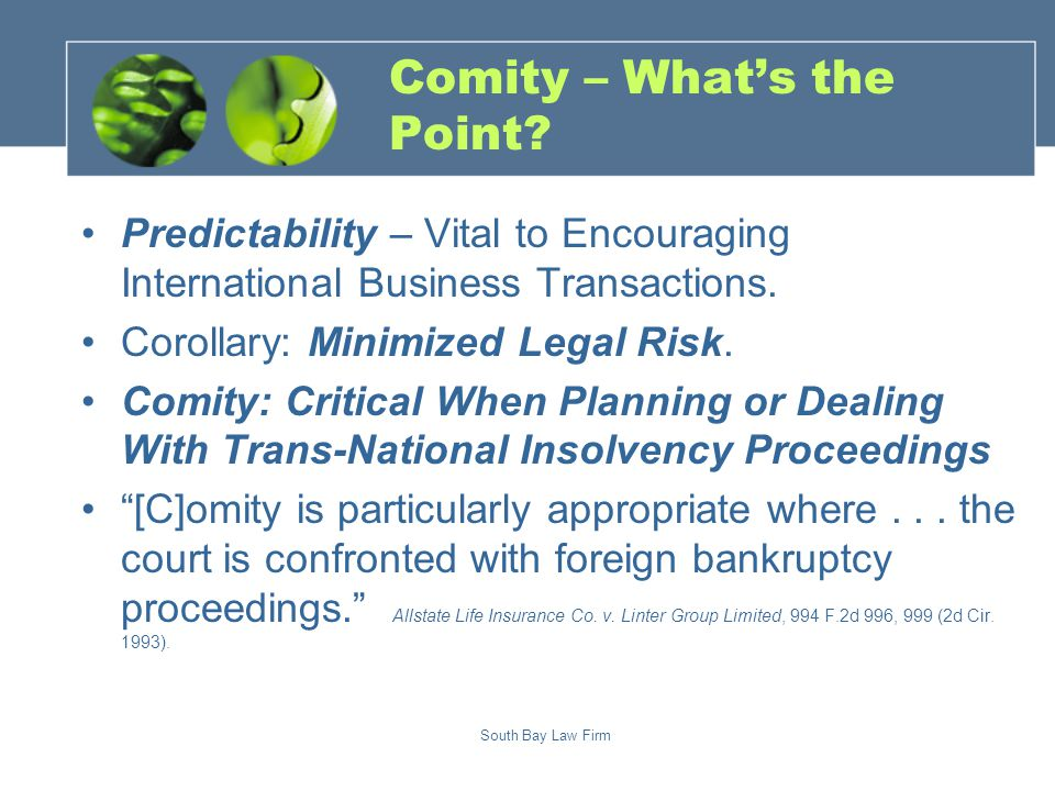 South Bay Law Firm Comity – What's the Point.