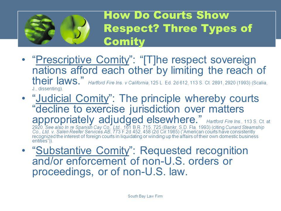 Chapter 15: Statutory Comity?