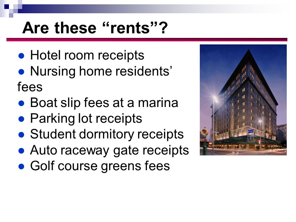 Are these rents .