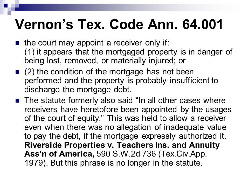Vernon's Tex. Code Ann.