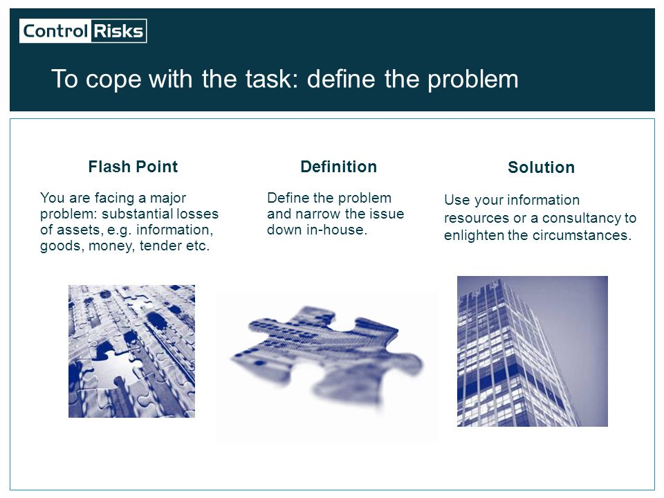 A first step to asset recovery is business intelligence –Collect more information on the debtor.