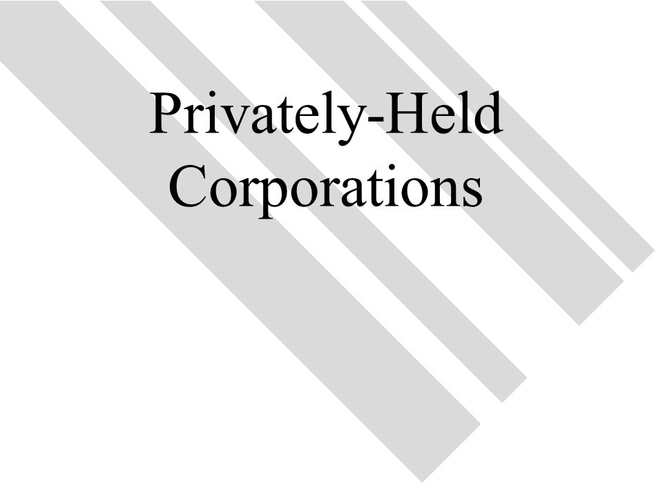 41 Privately-Held Corporations