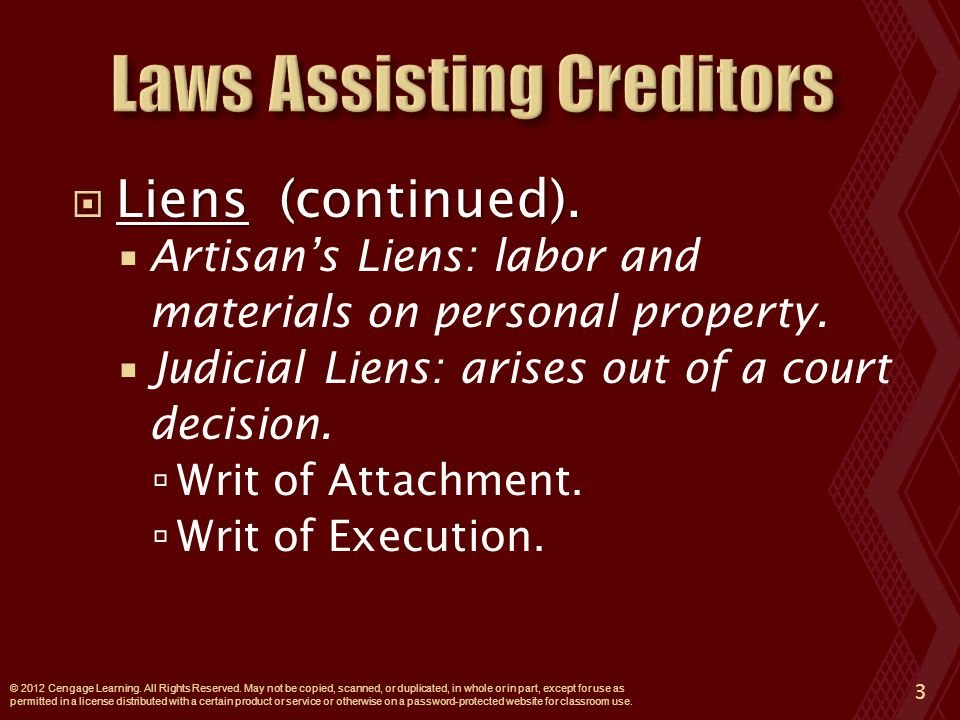  Permits a creditor to collect a debt by seizing property of the debtor held by a third party (garnishee).