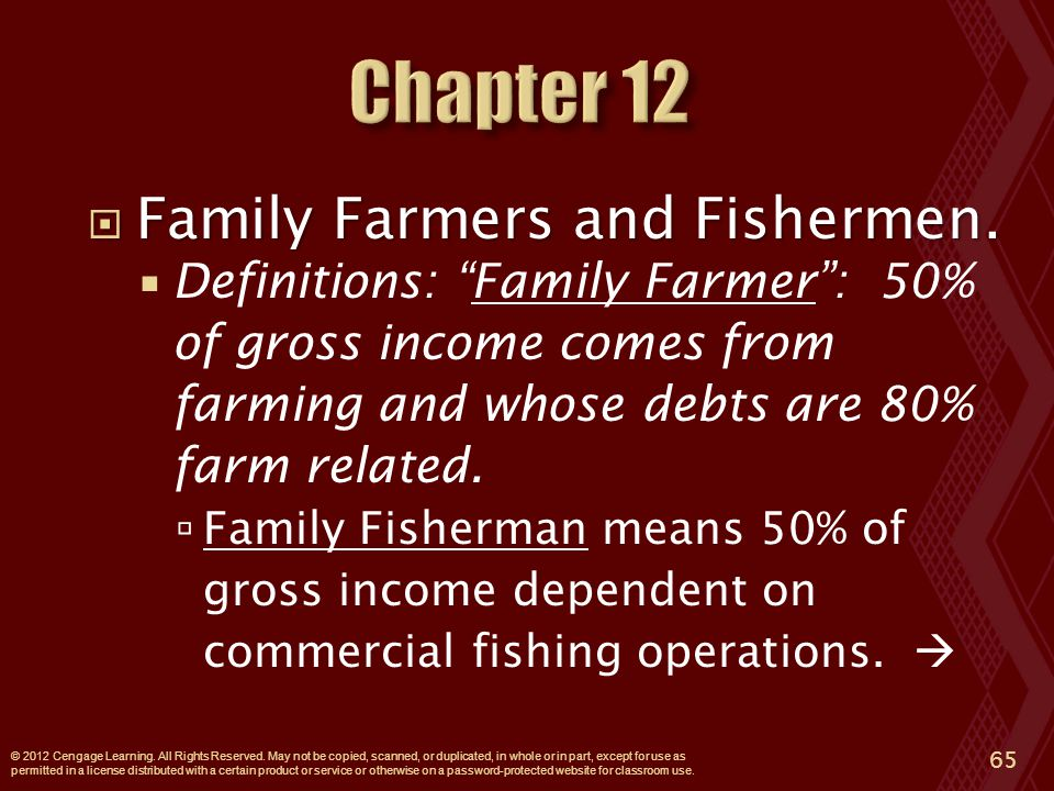  Family Farmers and Fishermen.