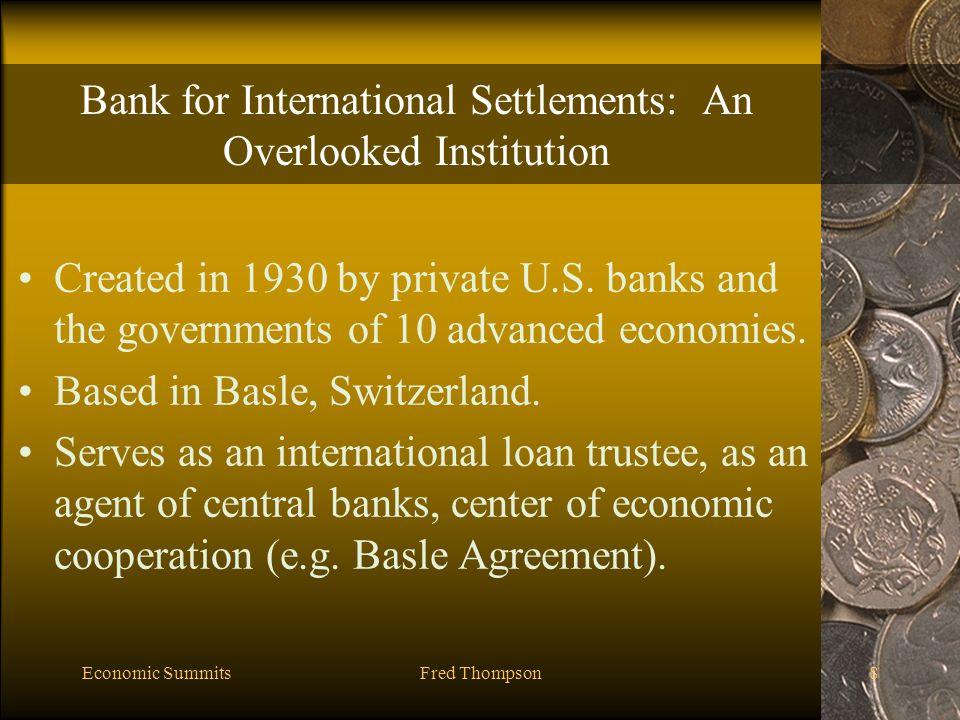 Economic SummitsFred Thompson49 Debt Relief In 1999, public pressure lead to the Cologne Debt Initiative (CDI).