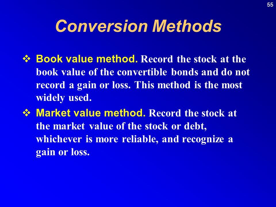 55  Book value method.