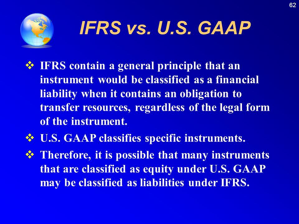 62 IFRS vs. U.S.