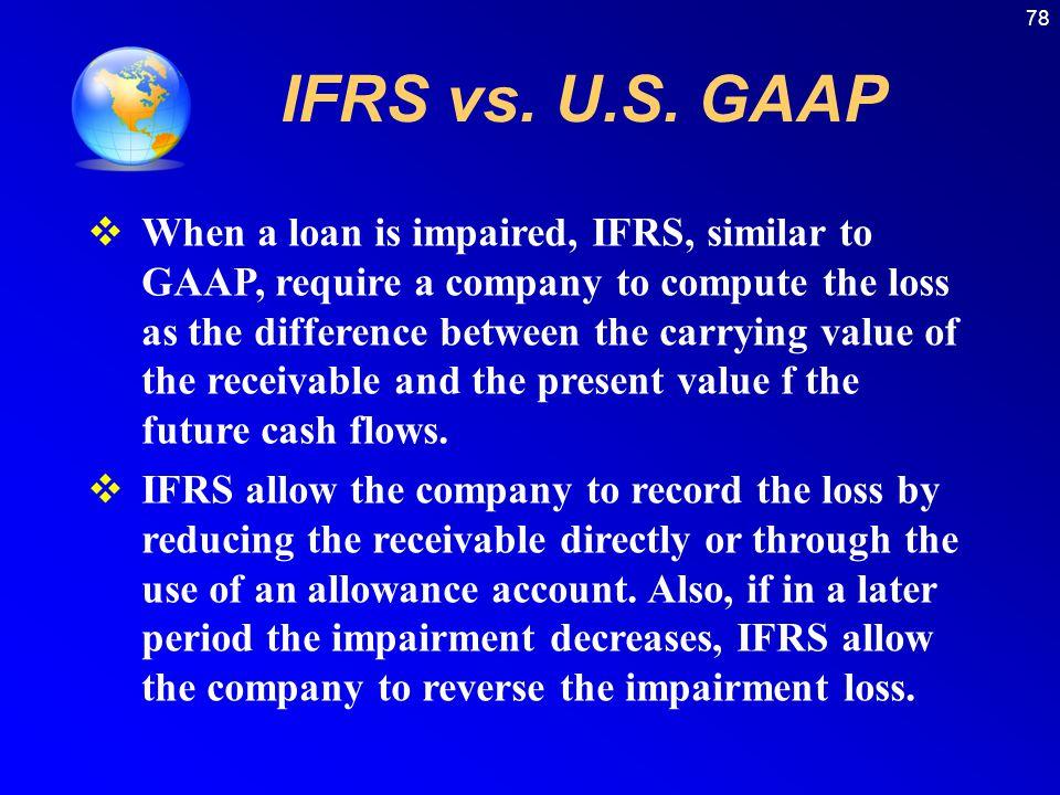 78 IFRS vs. U.S.
