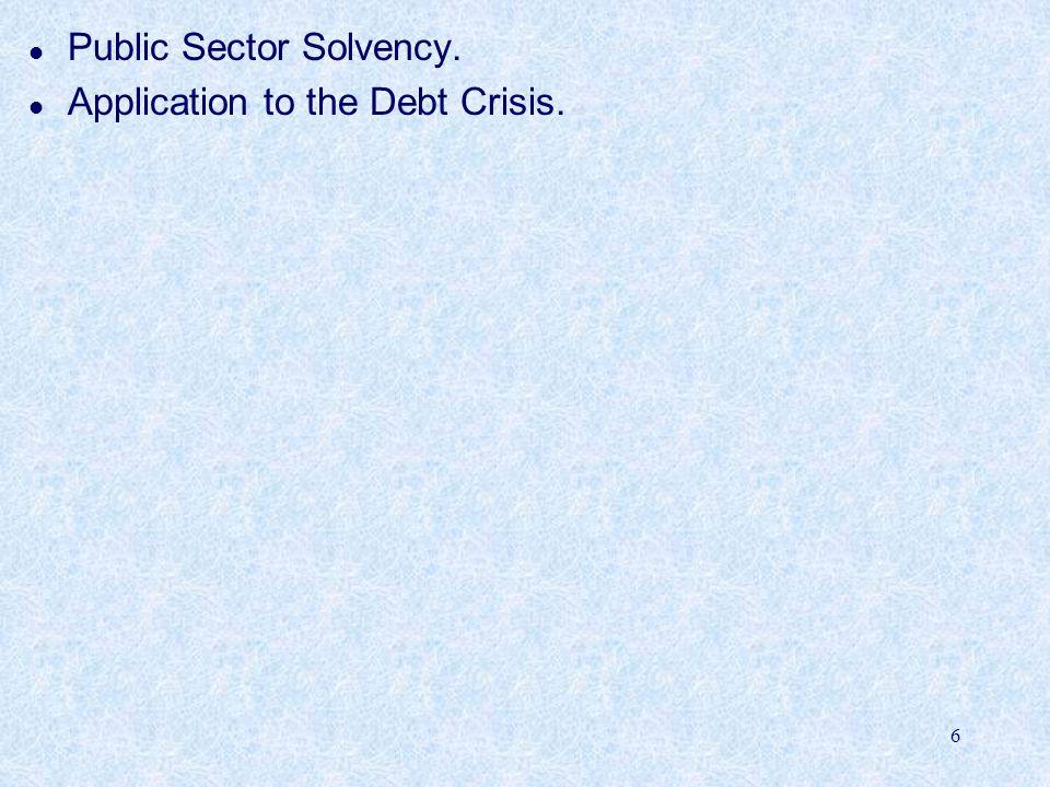 7 Public Sector Solvency