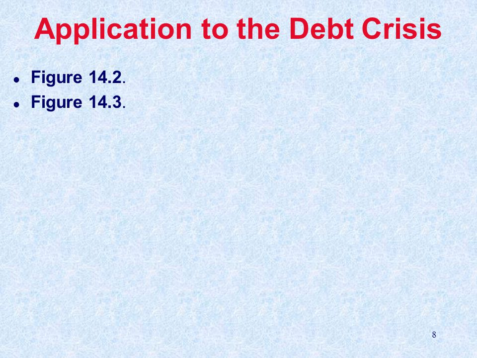 8 Application to the Debt Crisis l Figure 14.2. l Figure 14.3.