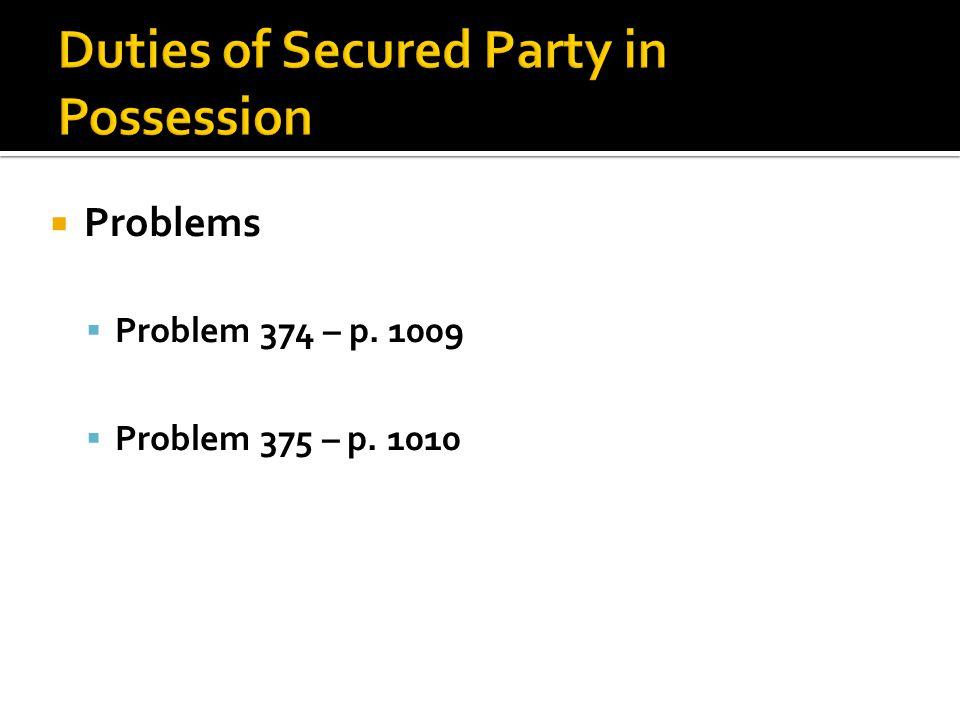  Problems  Problem 374 – p. 1009  Problem 375 – p. 1010