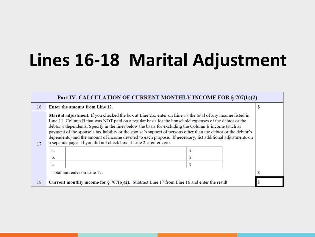 Lines 16-18 Marital Adjustment