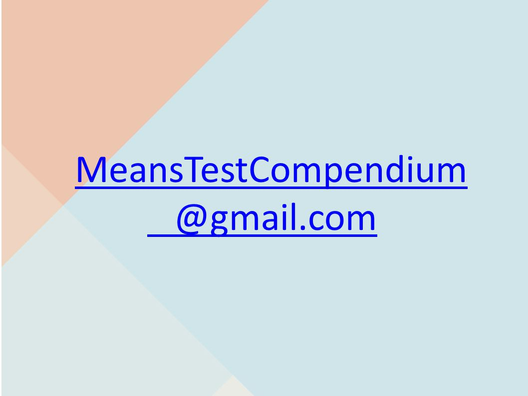 MeansTestCompendiumeansTestCompendium @gmail.com