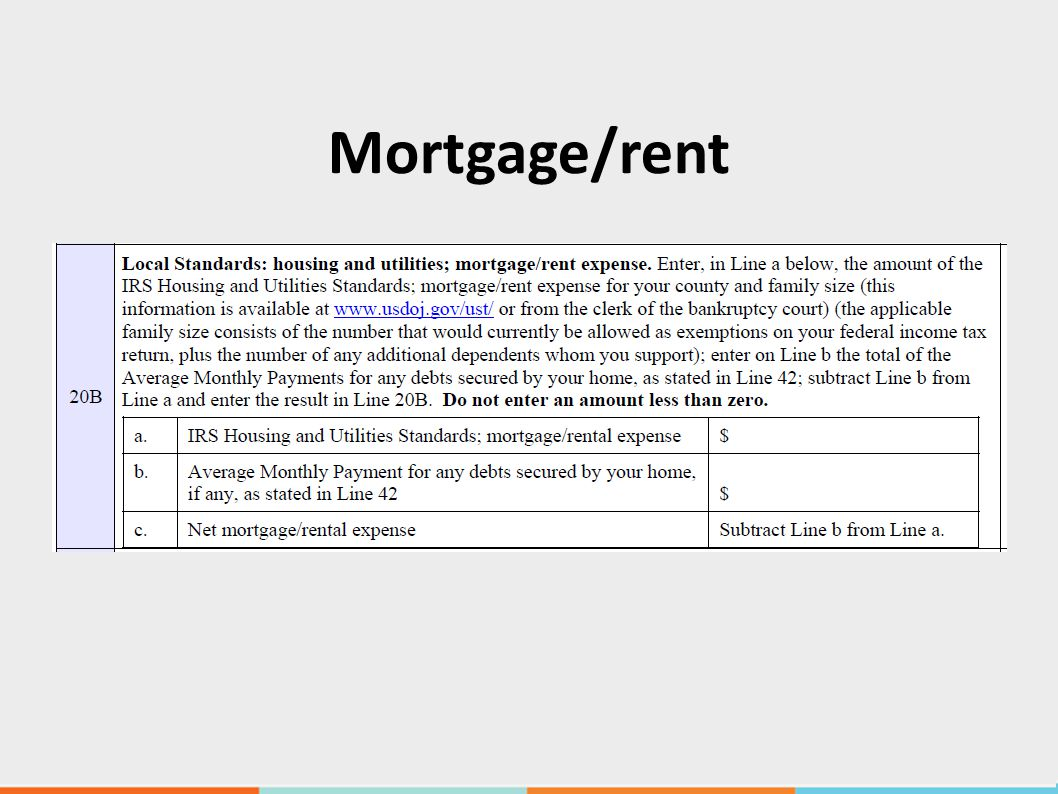 Mortgage/rent