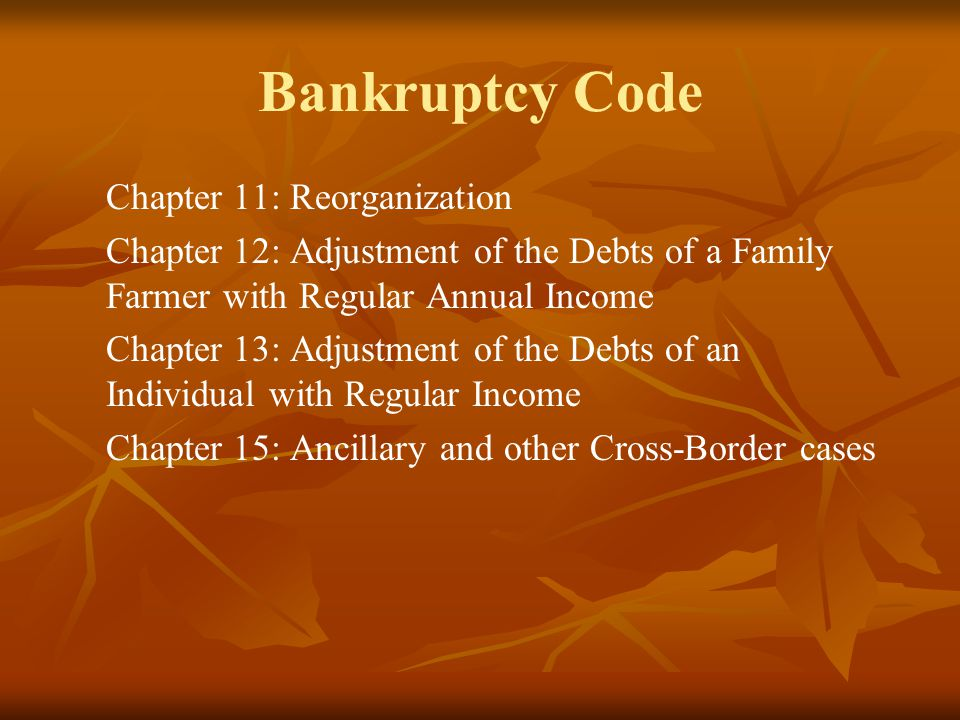 Bankruptcy: Which Flavor is Best.There are two types of personal bankruptcy.