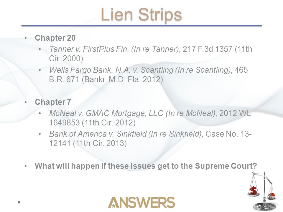 Lien Strips Chapter 20 Tanner v. FirstPlus Fin. (In re Tanner), 217 F.3d 1357 (11th Cir.