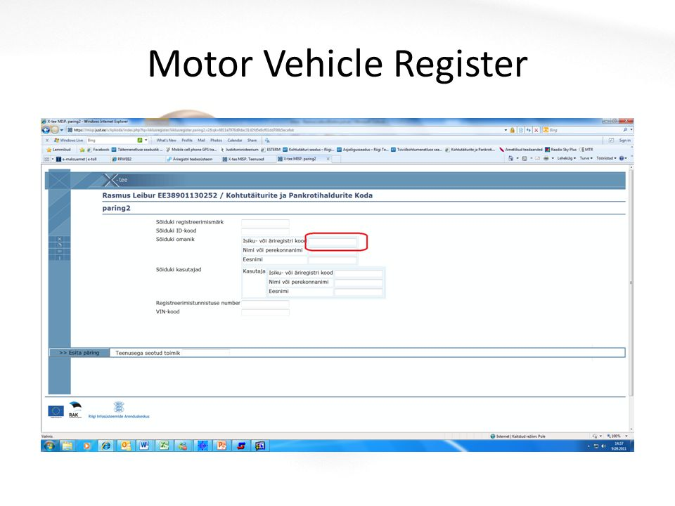 Motor Vehicle Register