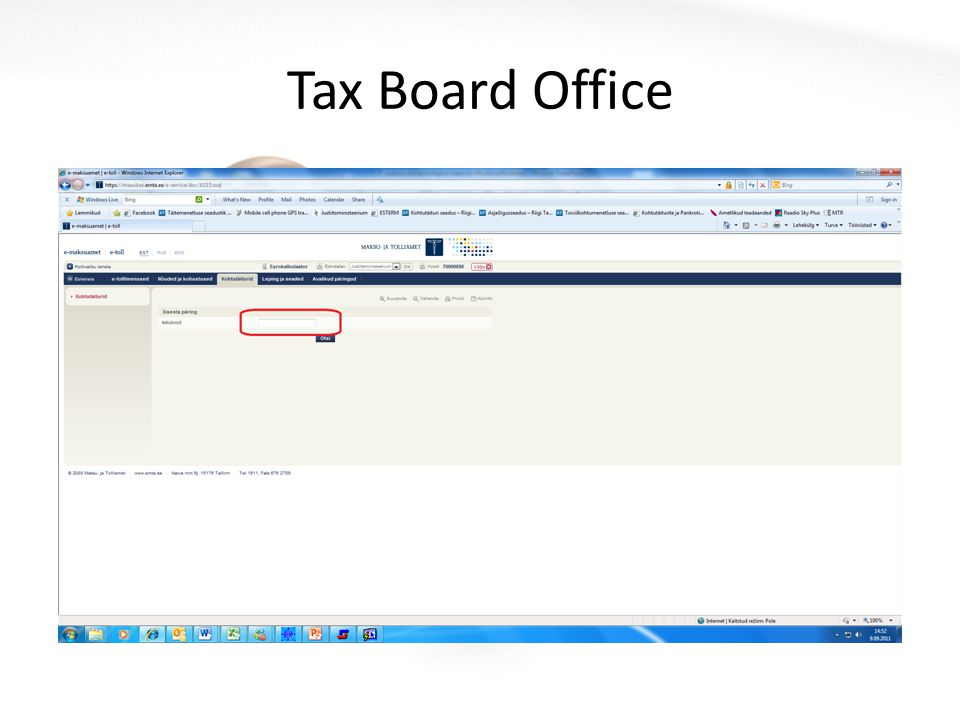 Tax Board Office