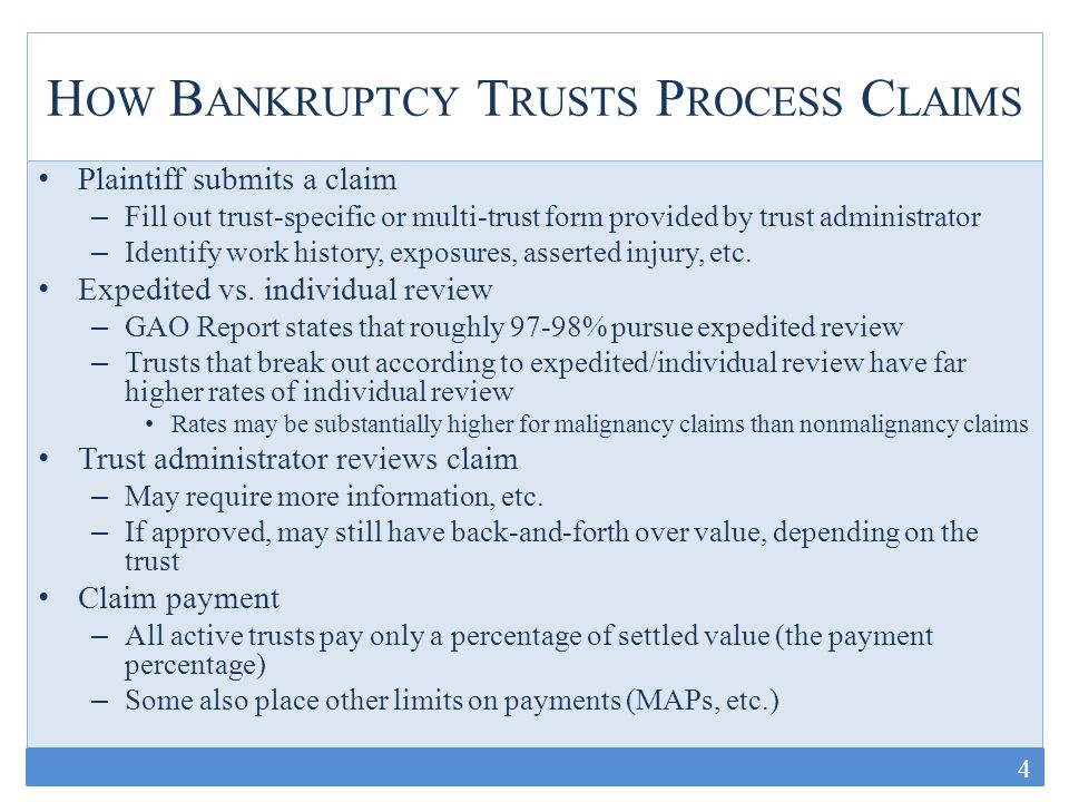T HE I NTERSECTION OF B ANKRUPTCY T RUSTS AND THE T ORT S YSTEM At the federal level, the proposed FACT Act would impose aggregate and claim-level disclosure obligations on the individual bankruptcy trusts At the state level, the focus is on shaping litigants' (primarily plaintiffs') discovery obligations – Case Management Orders – Legislation (Ohio example) 15