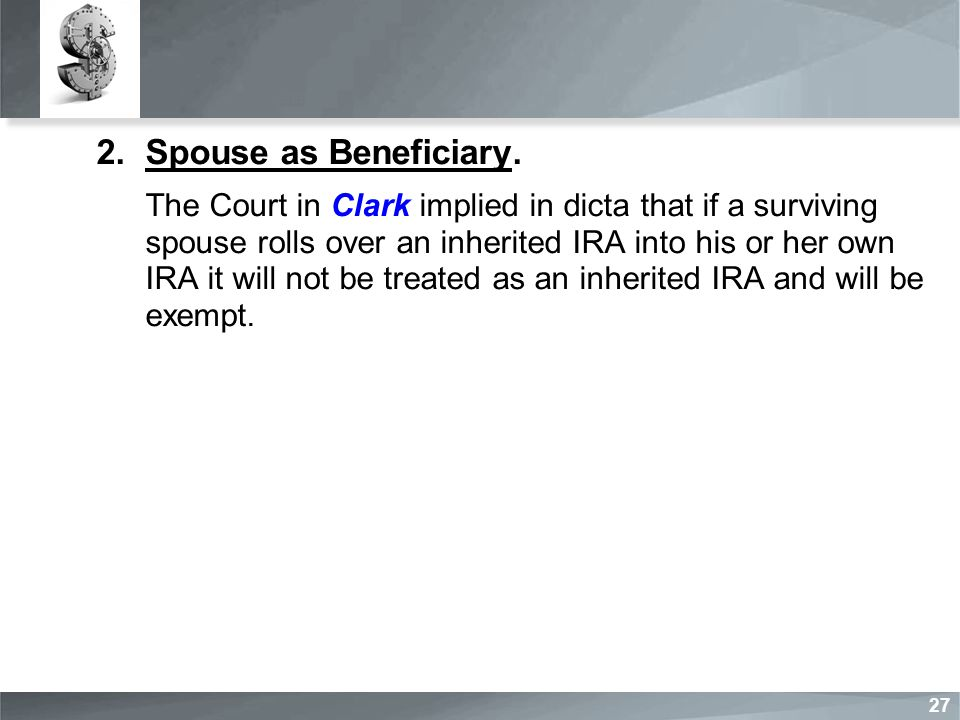 2.Spouse as Beneficiary.