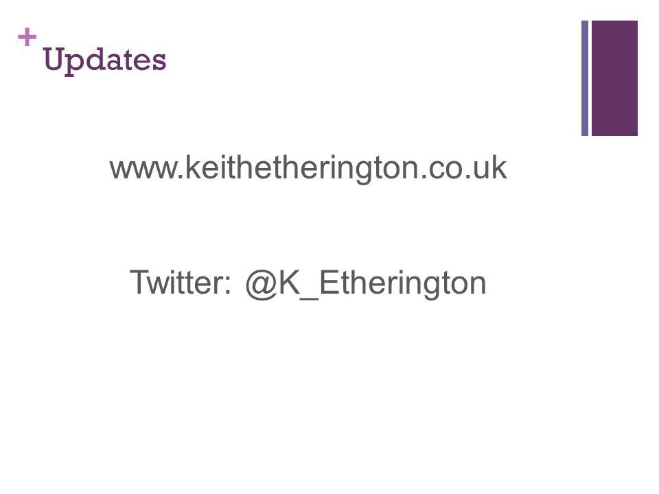 + Updates www.keithetherington.co.uk Twitter: @K_Etherington